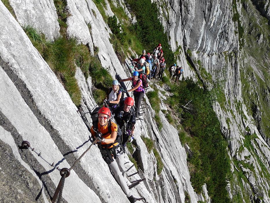 Klettersteig Set : Definition klettersteiggehen via ferrata alpenverein münchen