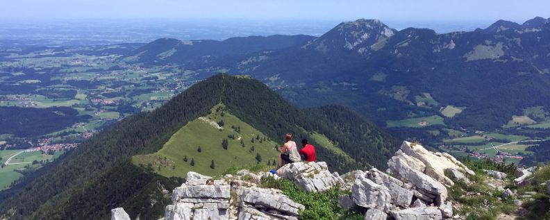 Enjoying the Outlook at Aiplspitz.