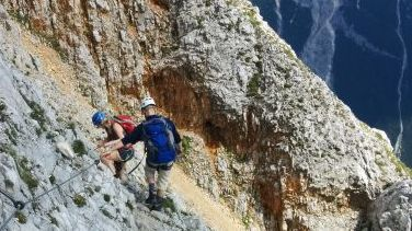Going the Via Ferrata.
