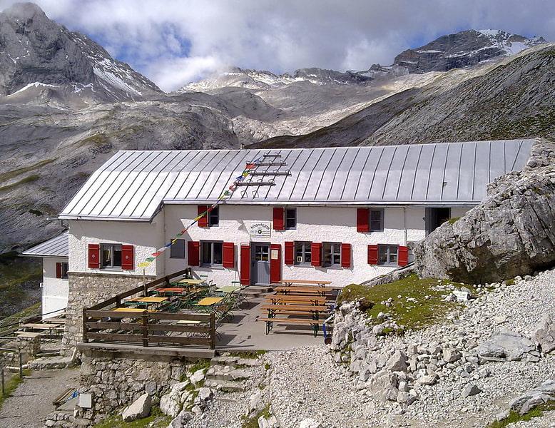 Garmisch Partenkirchen Kletterausrüstung Verleih : Knorrhütte zugspitze reintal alpenverein münchen oberland